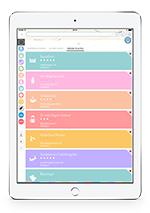 BabyPlaces iPad Liste